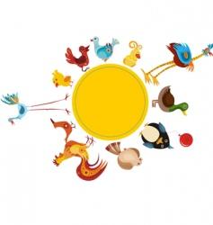 bird set vector image