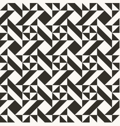 Black and white abstract geometric quilt pattern vector