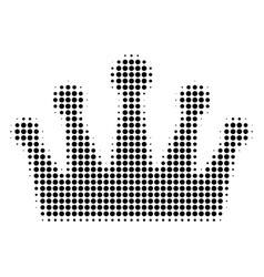 black dot crown icon vector image
