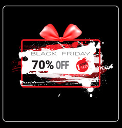 black friday sale banner grunge background design vector image
