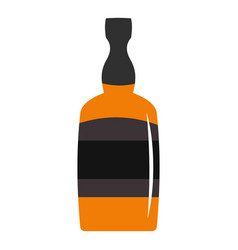 Brandy bottle icon isolated vector