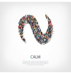 Calm people sign 3d vector