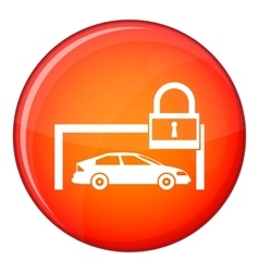 Car and padlock icon flat style vector