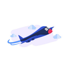 cartoonist 3d airplane background concept design vector image