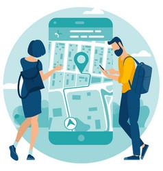 concept for mobile navigation vector image