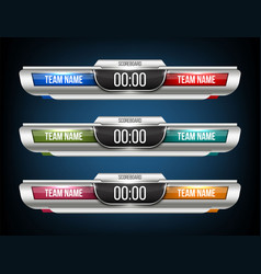 creative digital scoreboard vector image