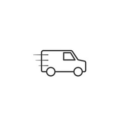 delivery transport car line icon simple modern vector image