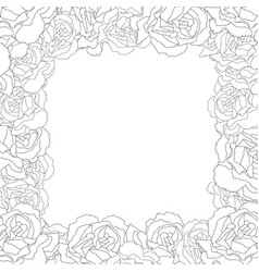 dianthus caryophyllus - carnation flower outline vector image