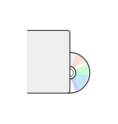Dvd icon disc blank dvd disk vector