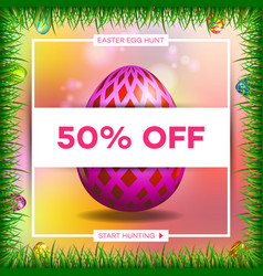 easter egg sale banner background template 7 vector image
