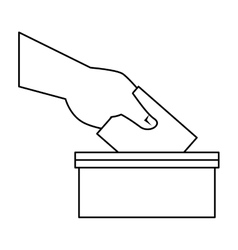 election urn isolated icon vector image