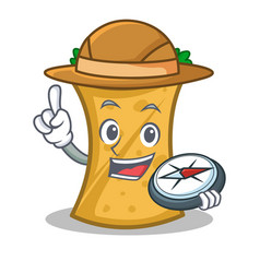 Explorer kebab wrap character cartoon vector
