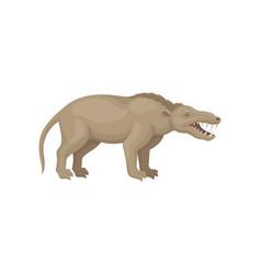 Flat design of mesonychia prehistoric vector