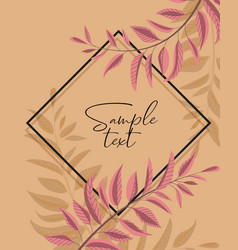 Floral greenery card design vector