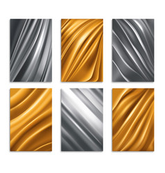 golden and silver foil texture vector image