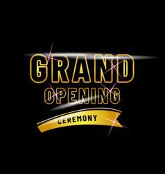 Grand opening poster design isolated black vector
