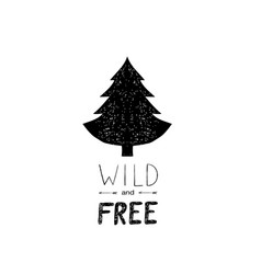 Hand drawn wild forest vector