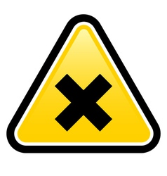 Harmful Sign vector image
