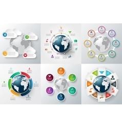 infographics global template set vector image