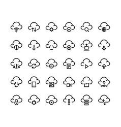 internet line icons black contour symbols vector image