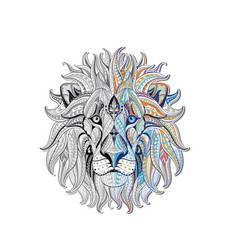 Lion head patterned vector