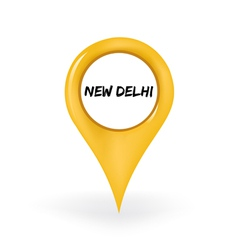 Location New Delhi vector image