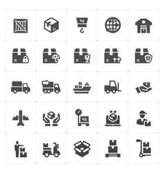 logistic and delivery filled icon vector image