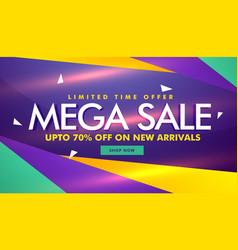 Mega sale banner design for your brand promotion vector
