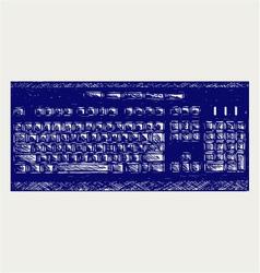 Modern computer keyboard vector image