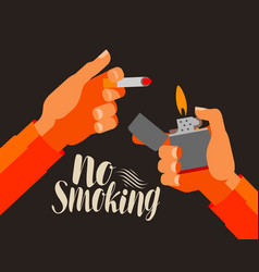 no smoking banner nicotine cigarette tobacco vector image