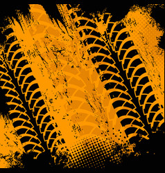 offroad grunge tyre prints background vector image