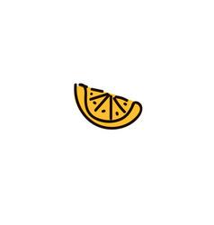 one slice of lemon citrus fruit isolated on white vector image