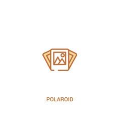 Polaroid concept 2 colored icon simple line vector