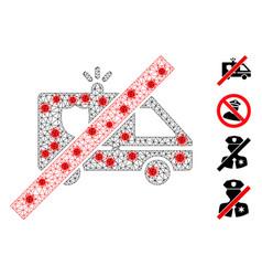 Polygonal carcass no patrol car pictograph vector