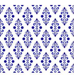 Porcelain pattern design vector