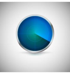 Radial screen blue color vector