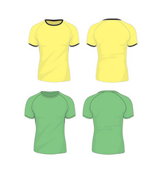 Raglan sleeve tshirt template vector