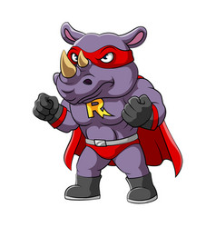 rhino with serious face wearing vector image
