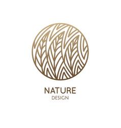 Round pattern logo forest vector