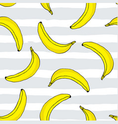 seamless pattern with hand drawn bananas vector image
