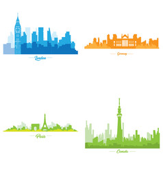 Set of skylines vector