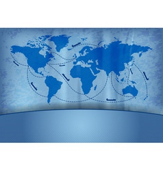 Shipping transportation routes vector