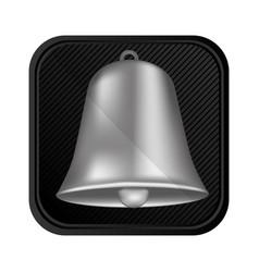silver bell symbol icon vector image