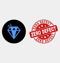 spark brilliant icon and grunge zero defect vector image
