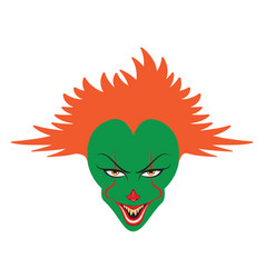 spooky clown face vector image