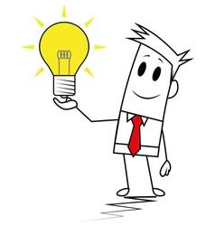 Square guy-Idea vector