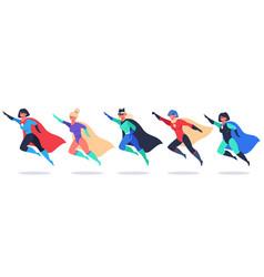Superheroes women wonder female characters super vector