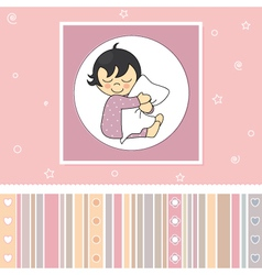 Sweet baby girl card vector image