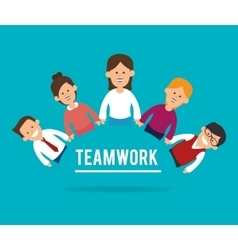 Teamwork support and leadership vector