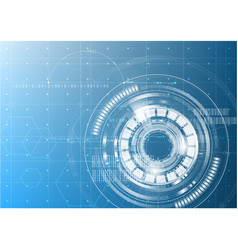 technological digital abstract modern hud vector image